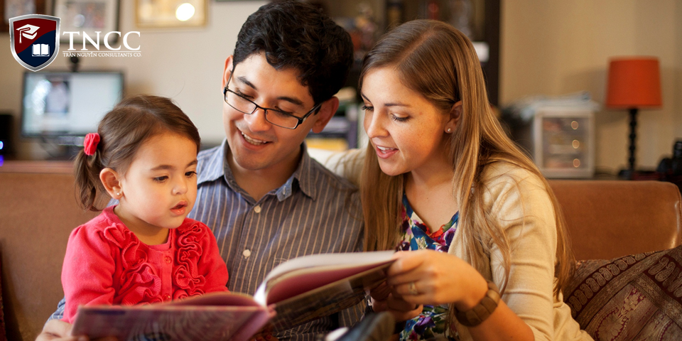 Vợ/chồng đi cùng được đi học hoặc làm việc, con cái được học tập miễn phí, cơ hội định cư cả gia đình
